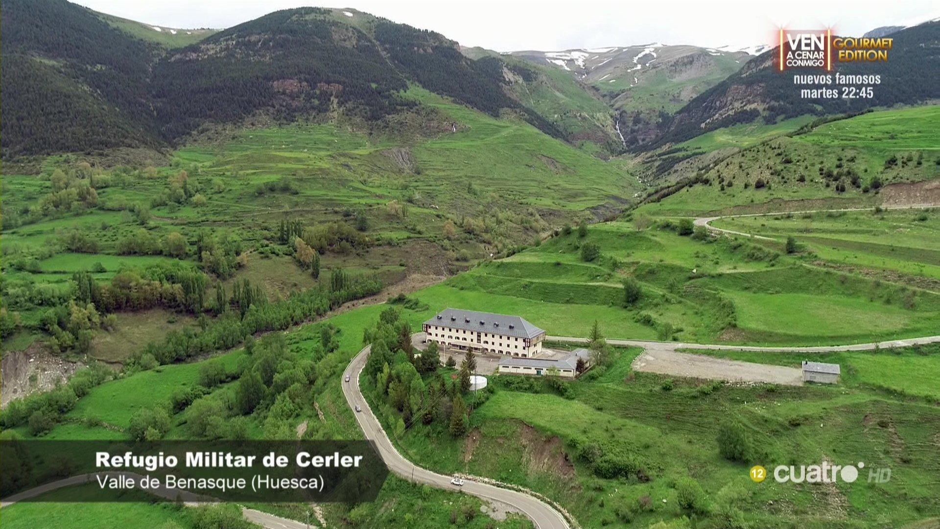 Refugio Militar de Cerler para Cuarto Milenio con drones